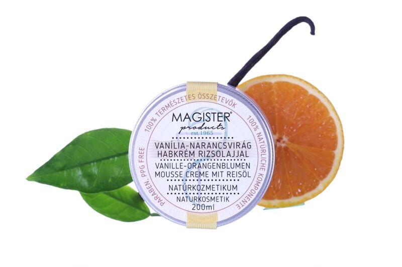 Vanília- narancsvirág habkrém